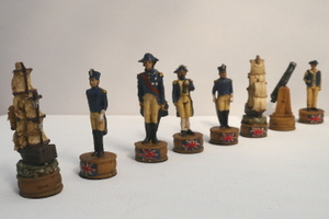 Hand Painted UK and French War - Including board (Economy Range 3 of 11)