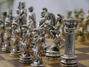 Roman Metal Chess Set