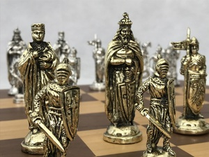 The Crusades Brass Chess Set