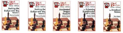 Set of Five of The Bad Bishop Series - Chess DVD