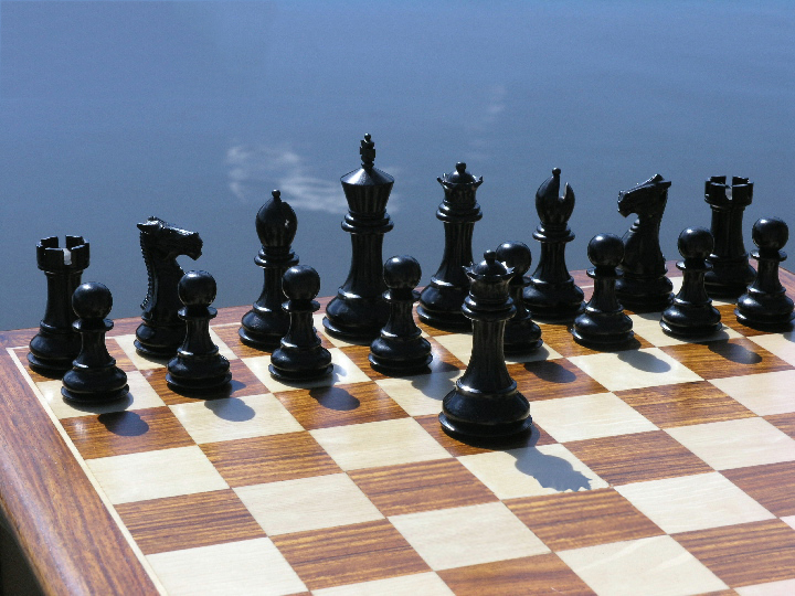Margaret Anne Ebony Staunton 3.5 inch King Chess Set