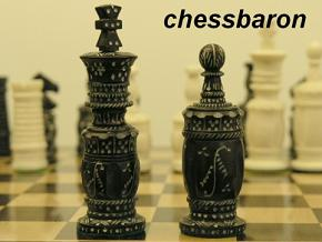 Exotic Christina Staunton in Camel Bone Chess Set