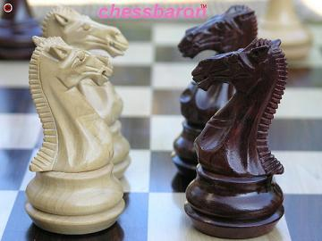 Chamfered�Triple Weight Staunton in Bud Rosewood Chess Set