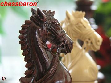 The Zephaniah Staunton Triple Weight in Bud Rosewood Chess Set