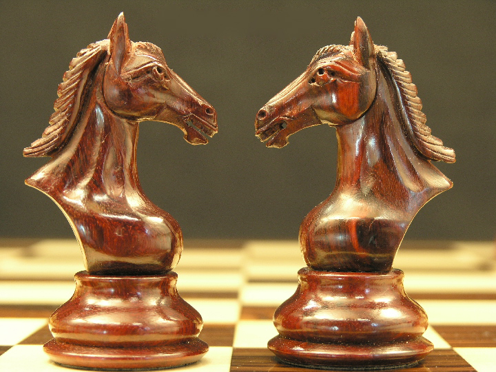 The Bronte in Bud Rosewood Staunton Chess Set