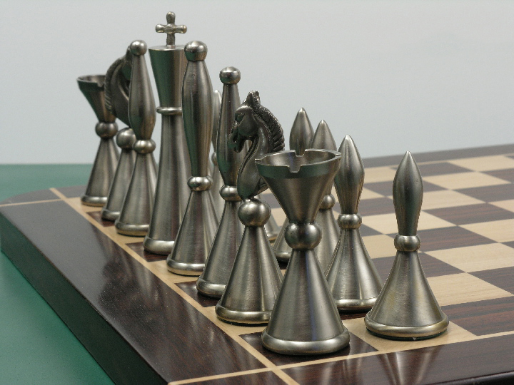 The Sebastian in Heavy Steel and Copper Chess Set