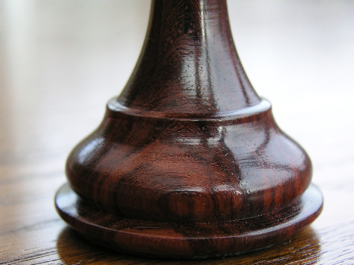 King Edward Bud Rosewood Triple Weight Felted Chess Pieces