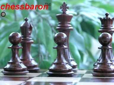 The Portishead Bud Rosewood Triple Weighted Chess Pieces