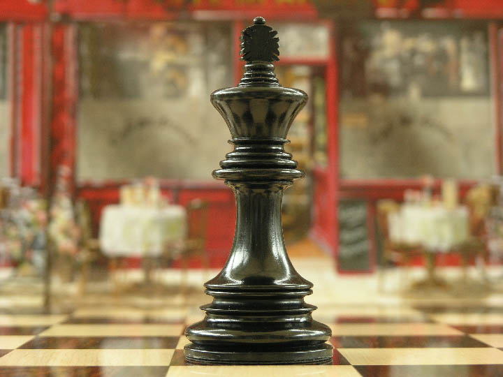 The Ashia in Ebony Triple Weight Chess Pieces