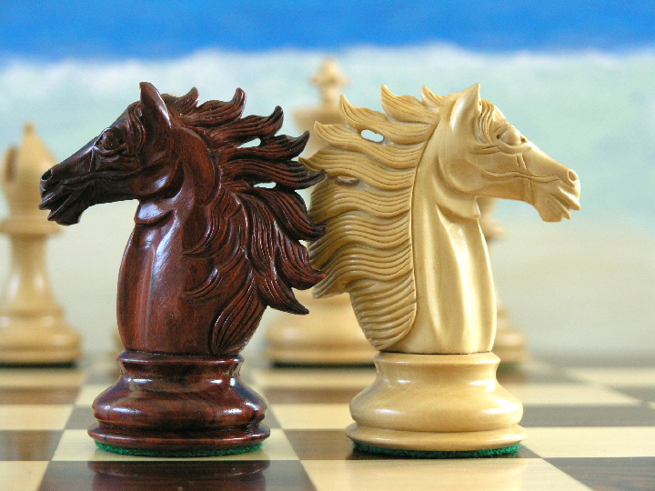 Baggio Staunton in Bud Rosewood Chess Pieces