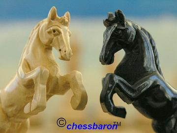 Alexander the Great in Ebony Chess Pieces