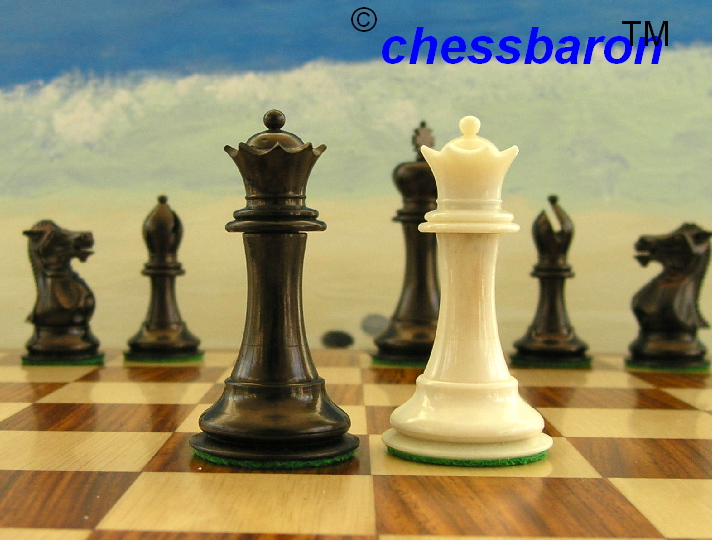 Rare Design Limited Edition - Staunton Camel Bone Chess Pieces