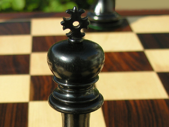 The Zacharus Ebony Chess Pieces