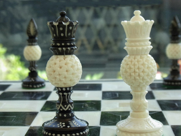 The Warner Bone Staunton Chess Pieces