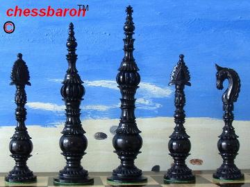 Limited Edition - The Piazza 6 inch Bone Chess Pieces