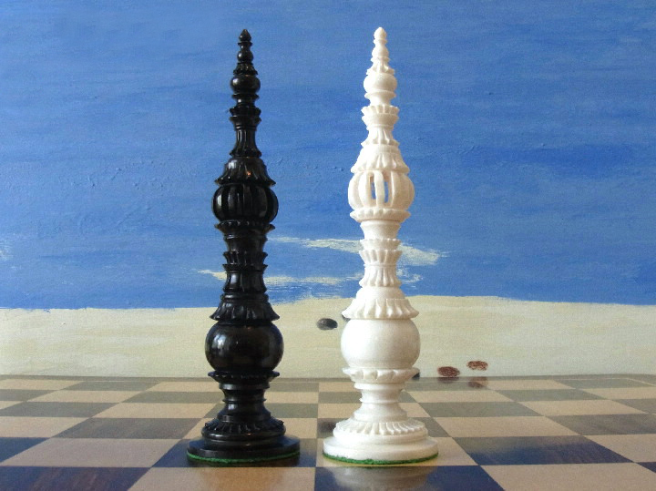 Limited Edition - The Museum Piazza 6 inch Bone Chess Pieces