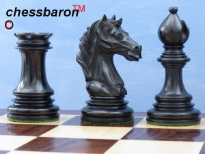 The Aristotle Antiqued Chess Pieces in Ebony - Limited Edition