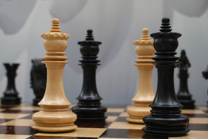 The Montreal Chess Set in Ebony