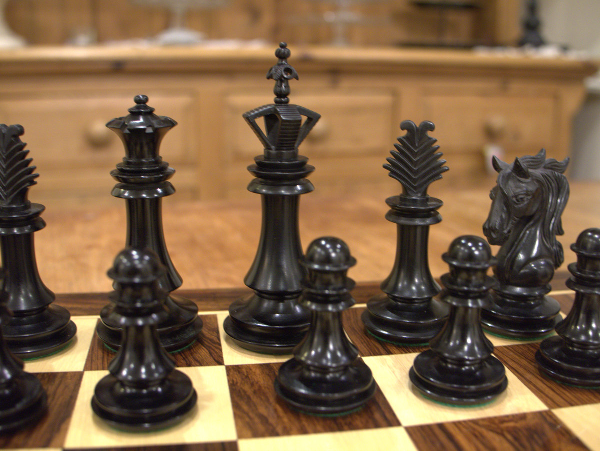 The Milan Chess Set in Ebony