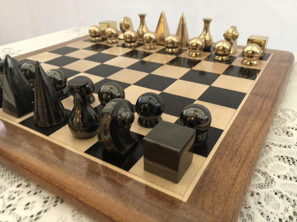 Man Ray Chess Set in Brass