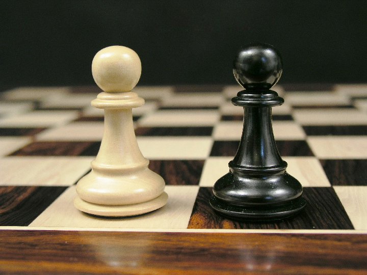 The Zephaniah Staunton Triple Weight in Ebony Chess Pieces