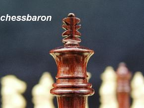 Royal Knight Bud Rosewood Staunton Chess Pieces
