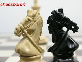Royal Shock Staunton in Ebony Chess Pieces