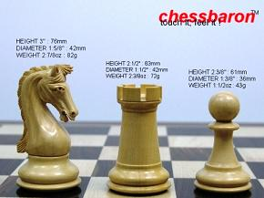 The Earl Anthony Staunton Triple Weight in Ebony Chess Pieces