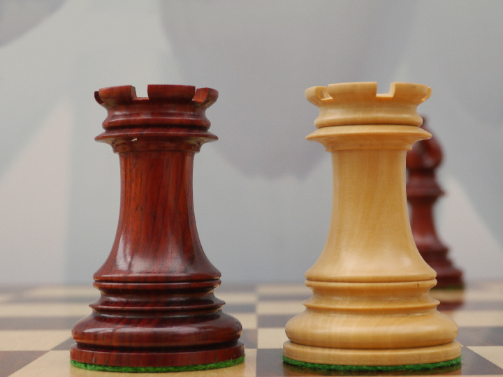 Limited Edition - The Ezekiel Chess Pieces in Bud Rosewood