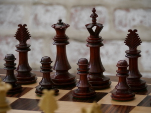 The Milan Chess Set in Bud Rosewood