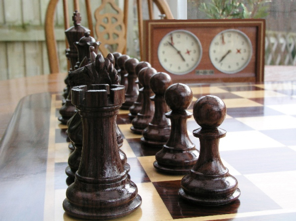 Sinead Staunton in Rosewood Chess Pieces