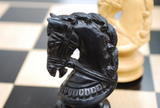 The Joust Set of in Ebony Chess Pieces